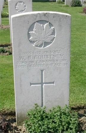 William Boomer Courtney war grave